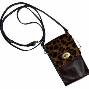 Patricia Nash Rivella Leopard Print Calf Hair Bag